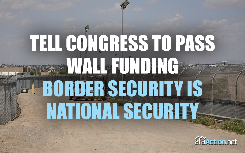 Tell Congress to fund Pres. Trump's border security plan