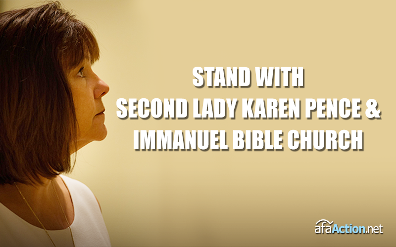 Stand with Second Lady Karen Pence and Immanuel Christian School