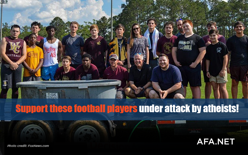 Support high school football players under attack by atheists