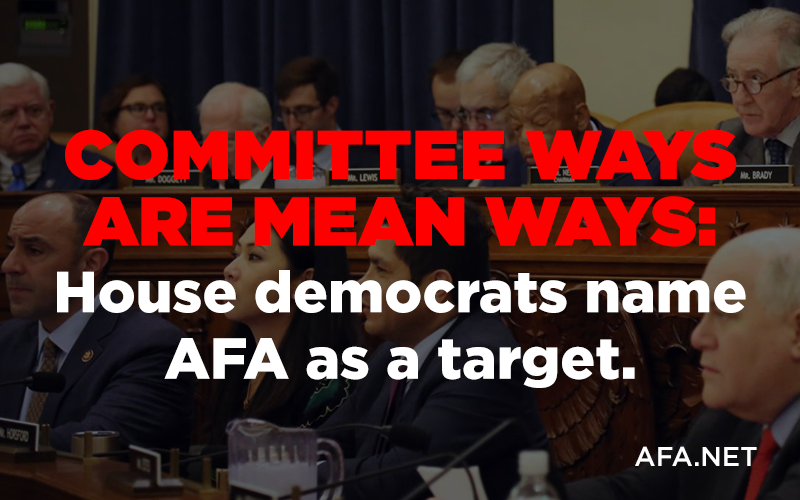 House Democrats name AFA as a target (by name)